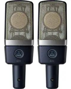 AKG C 214 Side Address Condenser Microphone - Stereo Set