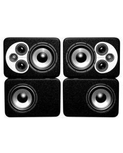Barefoot Sound MicroStack45 3-Way Active Studio Monitor - Pair