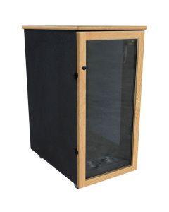 "Sound Construction IsoBox Post - 24RU45"" D - Oak Left"