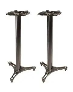 """Ultimate Support MS-90/36B 36"""" Monitor Stand - Pair - Black"""