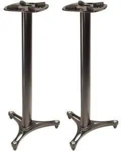 """Ultimate Support MS-90/45B 45"""" Monitor Stand - Pair - Black"""