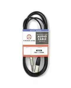 Vintage King Basic Patch Cable TRS - XLRM - 10'