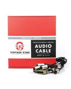 Vintage King Project Series DB25 - XLRM - 5'