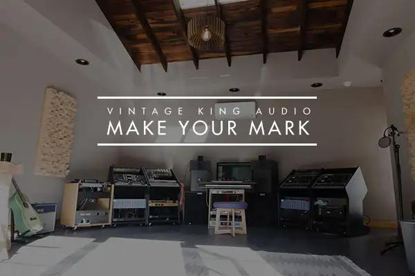 Recording studio with Vintage King Make Your Mark logo