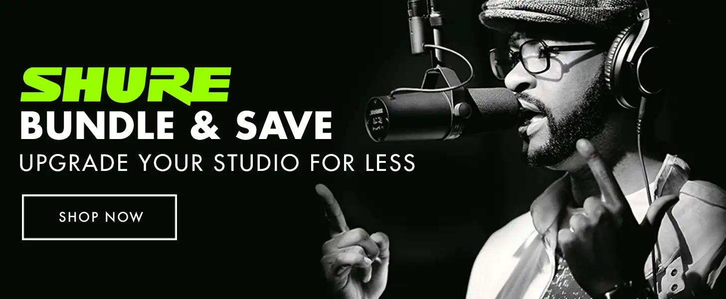 Save with Exclusive Shure Bundles from Vintage King!