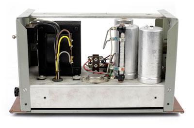 Internal side-view of a Telefunken Ela-m 251 power supply