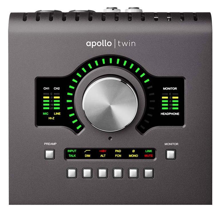 The UA Apollo Twin MKII QUAD controls