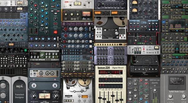 A large assortment of UAD plug-ins