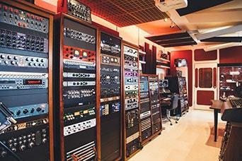 Outboard audio gear in racks