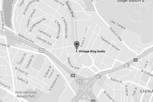 Vintage King Los Angeles map