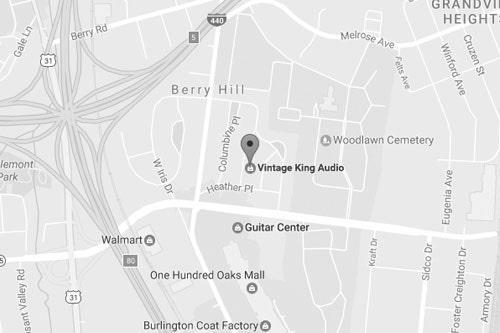 Vintage King Nashville map