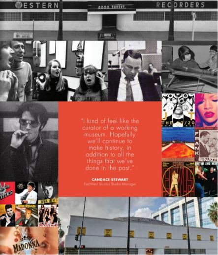 collage of artists and eastwest studios