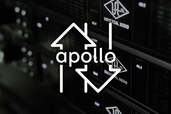 Apollo units in rack with trade icon on top