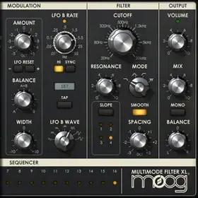 Moog Multimode Filter Collection plug-in