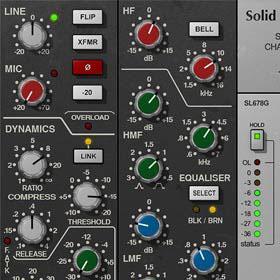 SSL 4000 E Channel Strip plug-in