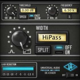 UA Precision De-esser plug-in