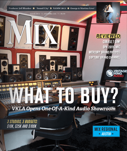 Vintage King Los Angeles On The Cover Of Mix Mag's March Issue