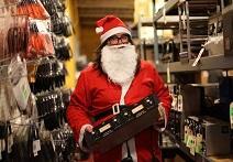 Santa Claus Visits The Vintage King Tech Shop